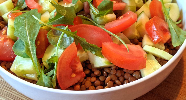La recette facile : salade de lentillons